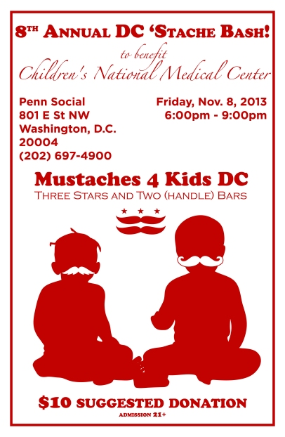 Download and Print Our Stache Bash Poster